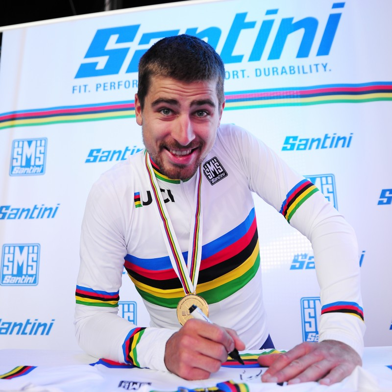Peter Sagan's UCI World Champion Signed Cycling Shirt