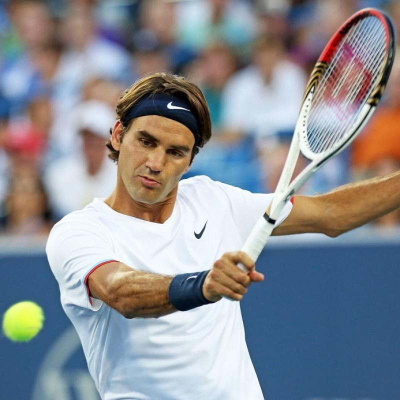 Wilson Tennis Racquet Signed by Roger Federer