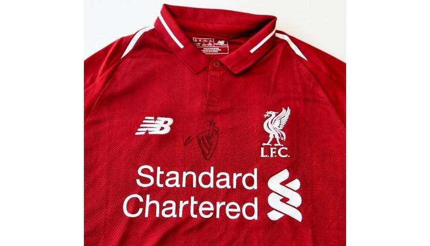 7b9a2df8e Xherdan Shaqiri Signed Liverpool FC 18/19 Home Shirt - CharityStars