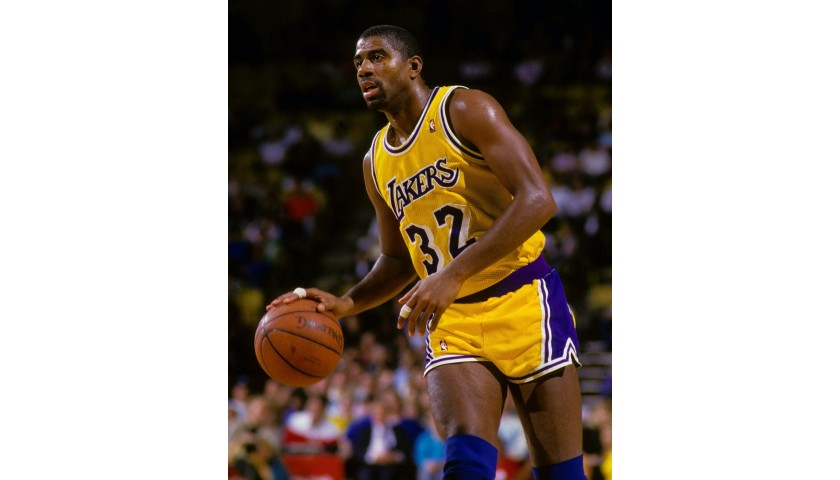 Magic Johnson Hand Signed NBA Basketball Personalized to You
