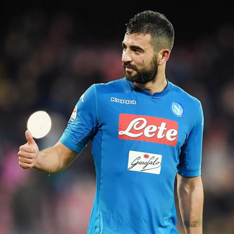 Albiol's Official Napoli Signed Shirt, 2017/18