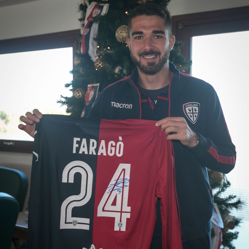 Cagliari Festive Shirt - Worn and Signed by Faragò