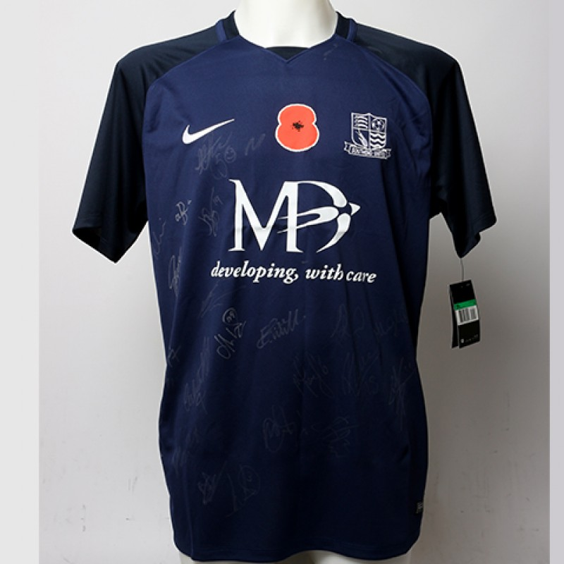 Poppy Shirt Signed by Southend United F.C.
