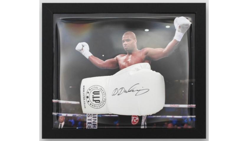 Daniel Dubois Signed and Framed White VIP Boxing Glove
