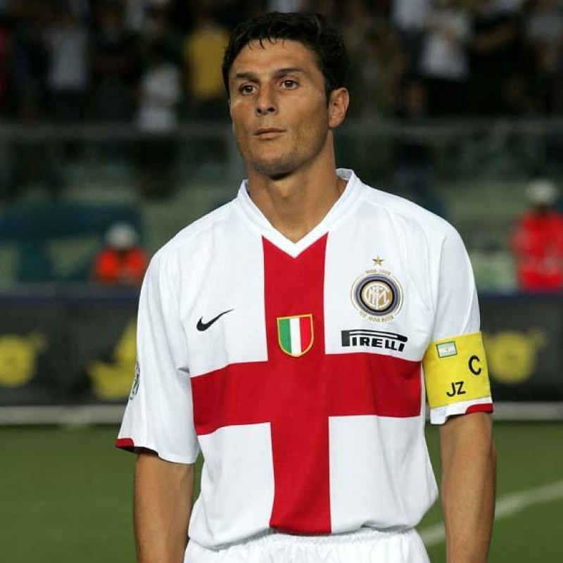 Zanetti's Official Inter Centenary Signed Shirt