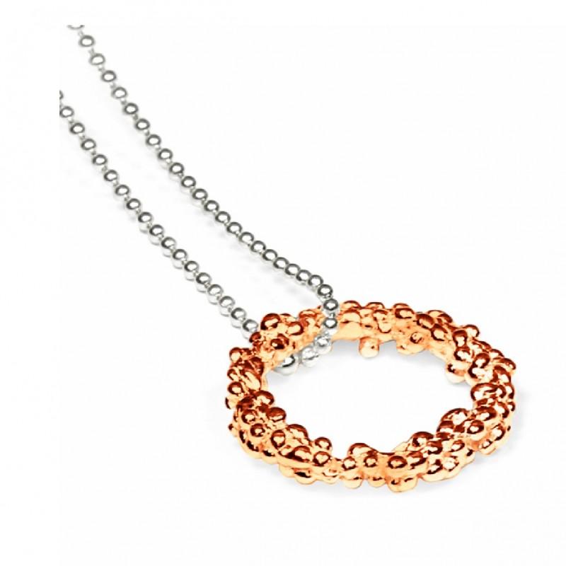 Militza Ortiz Rose Gold Circle Pendant