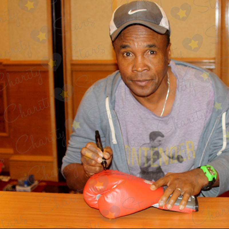 Boxing Glove Signed by Sugar Ray Leonard