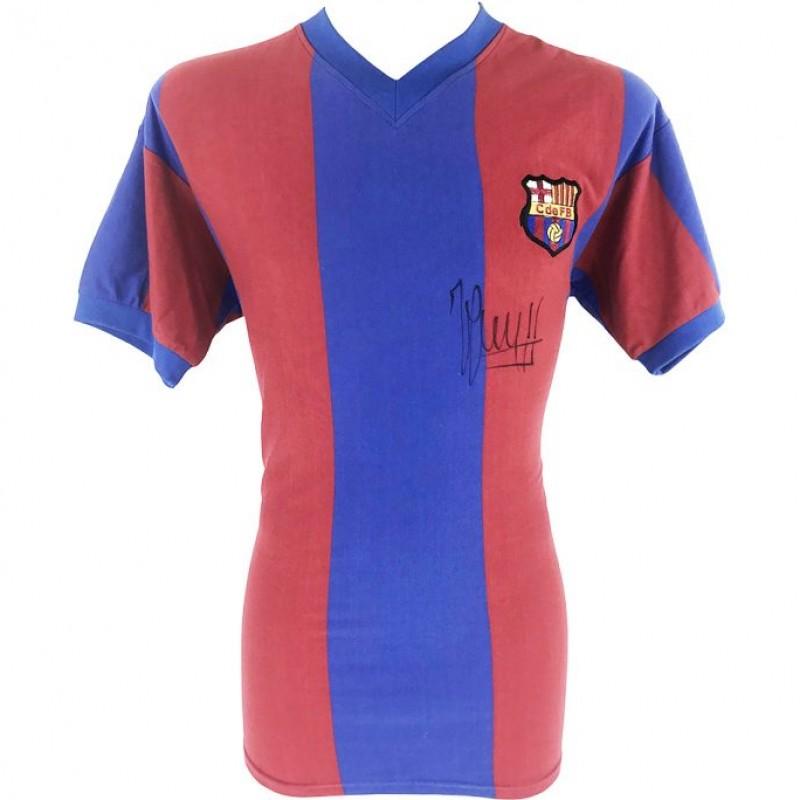 Cruyff's FC Barcelona Signed Shirt