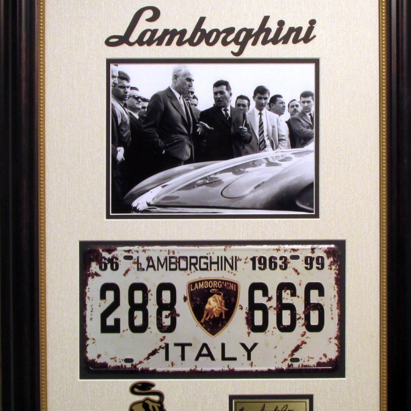 Lamborghini Vintage License Plate and Photograph Collection