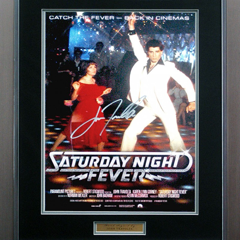 John Travolta Hand Signed 'Saturday Night Fever' Movie Poster