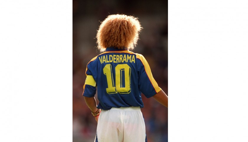 Official 1997/98 Colombia Shirt Signed by Valderrama