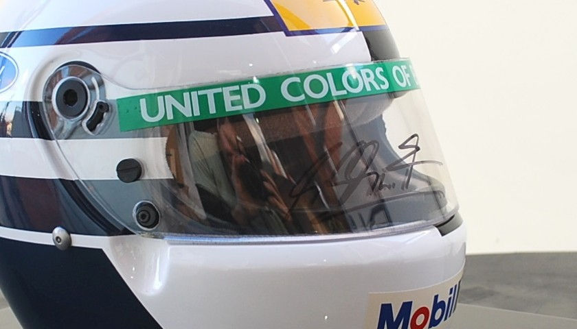 Special Schumacher and Patrese 1993 Benetton Helmet Signed by Schumacher