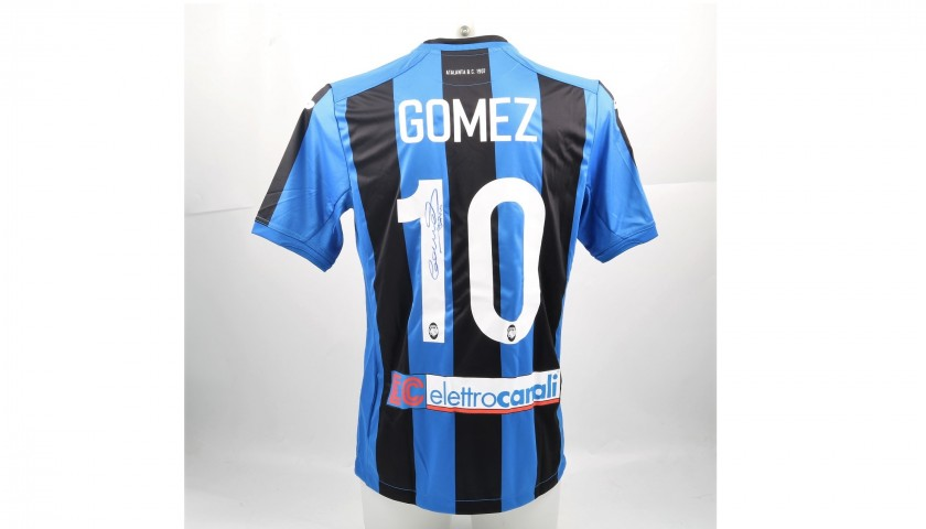 Papu Gomez's Match-Issued and Signed Atalanta Shirt, Serie A 2017/18