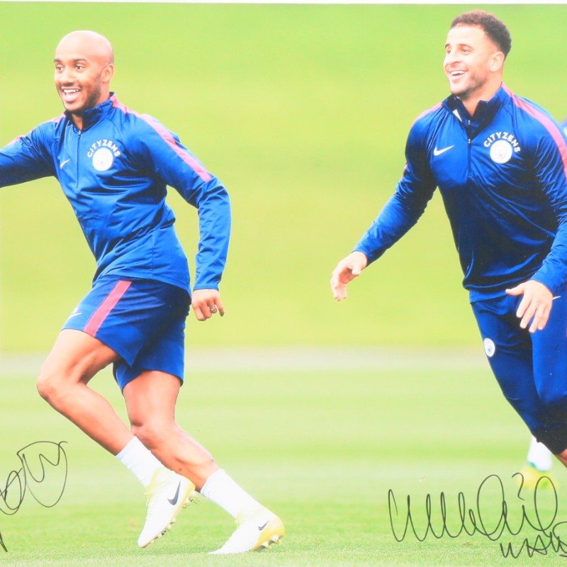"""Training"" Walker and Delph Signed Photograph"