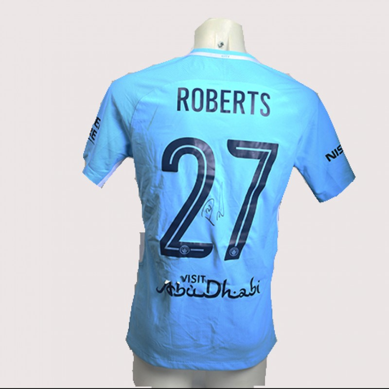 Patrick Roberts Match-Worn Signed Manchester Derby Shirt