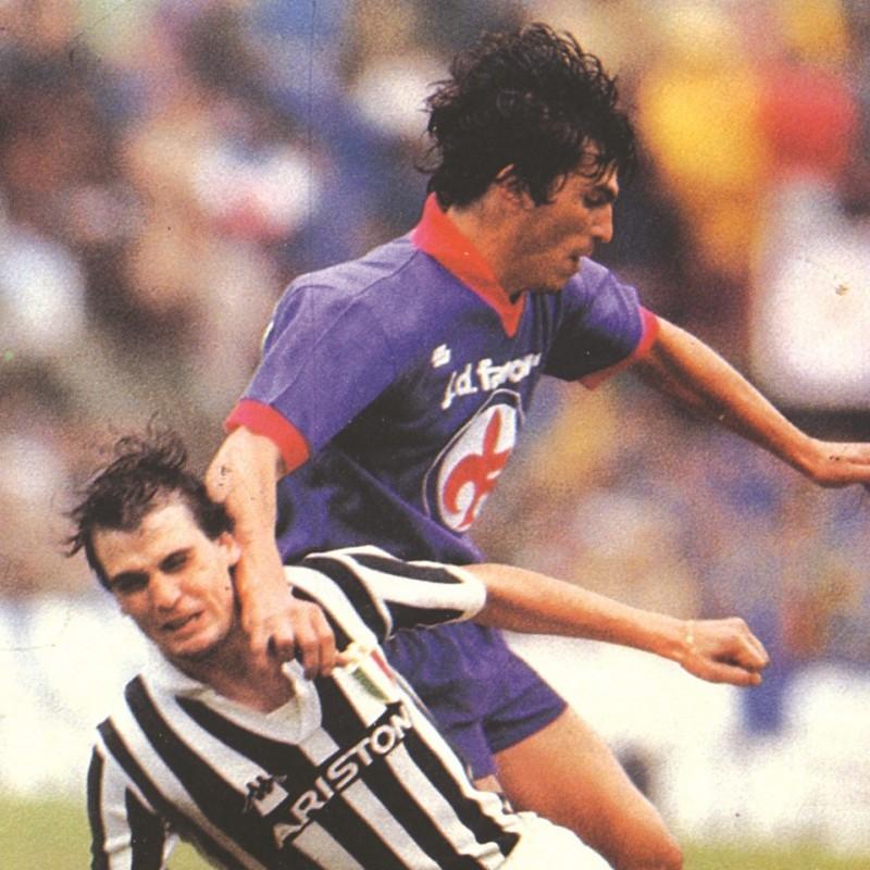 Maglia Ufficiale Passarella Fiorentina, 1984/85 - Autografata