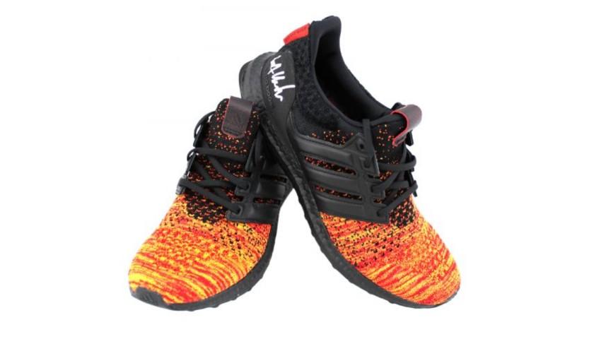 Kit Harington Signed Game of Thrones Adidas X House Targaryen Ultraboost Red Shoes