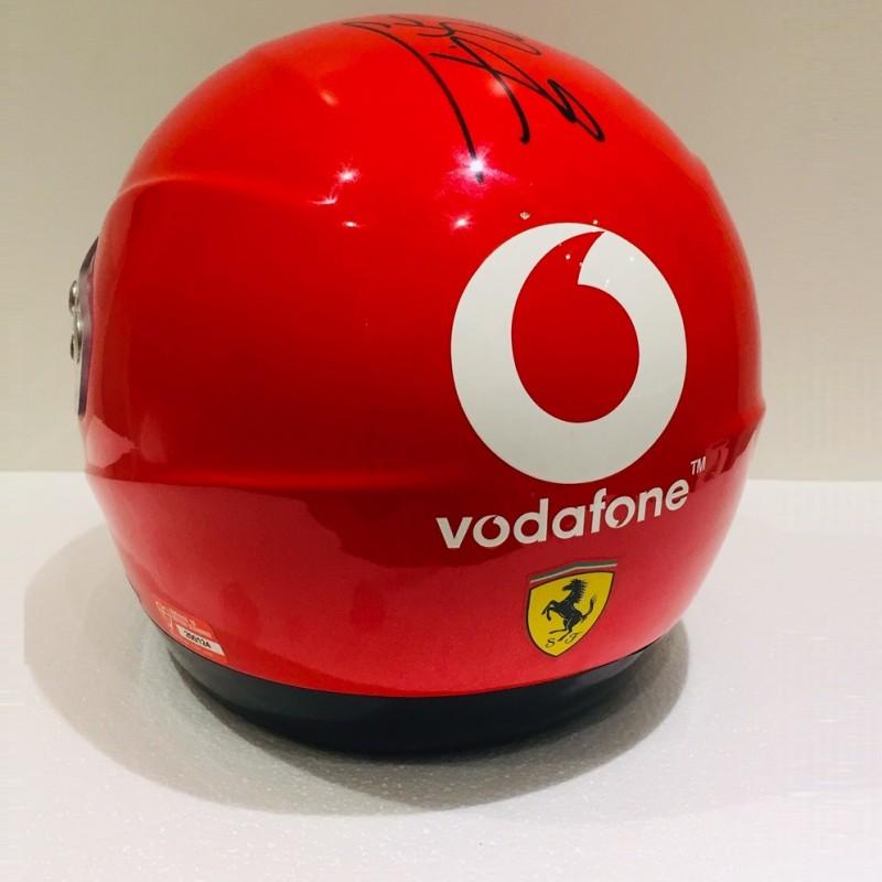 Michael Schumacher Signed Vodafone Ferrari Helmet