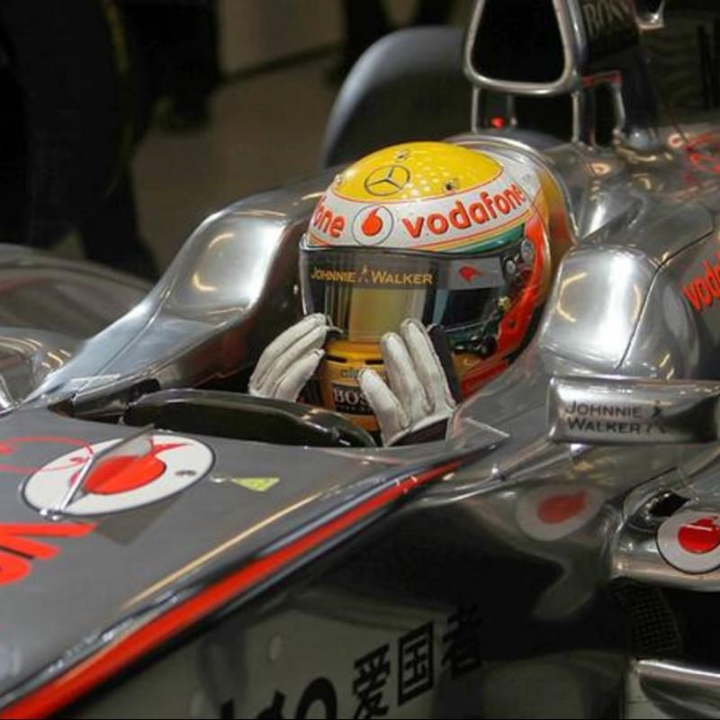 Lewis Hamilton McLaren Mercedes Replica Signed Helmet