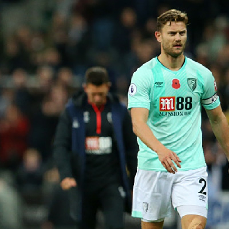 Francis' AFC Bournemouth Worn and Signed Poppy Shirt
