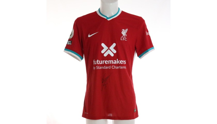 Jota's Liverpool FC Match-Issued and Signed Shirt, Limited Edition 20/21