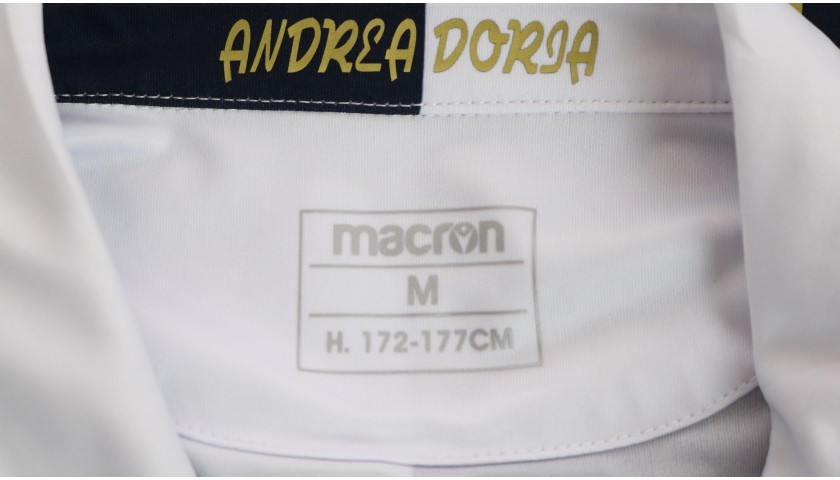 Candreva's Worn Kit, Sampdoria-Milan 2020, SPECIAL 120 Years Andrea Doria