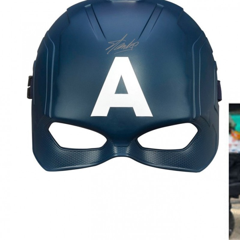 """Captain America"" Mask with Stan Lee Printed Signature"