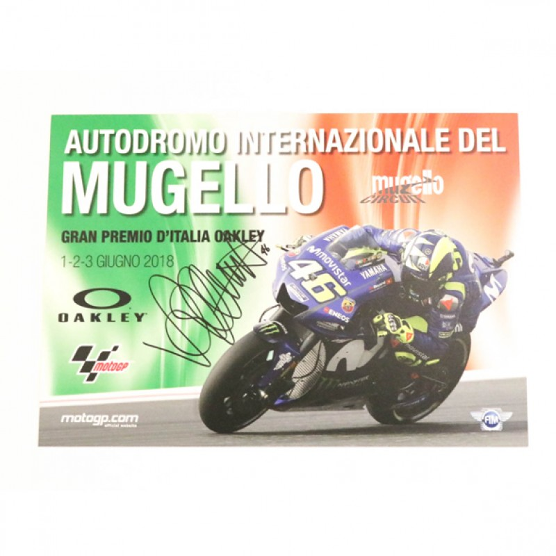Mugello Grand Prix 2018 Poster - Signed by Valentino Rossi