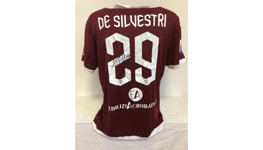 De Silvestri's Worn and Signed Shirt, Torino-Lazio 2020