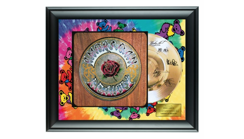 The Grateful Dead Gold Record Display