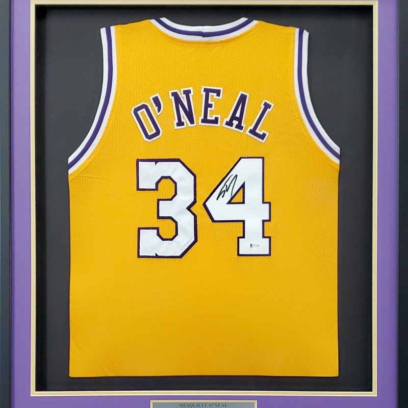 Shaquille O'Neal Signed Framed Jersey