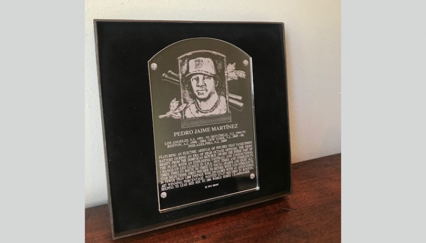 Pedro Martinez Commemorative Hall of Fame Jersey and Plaque
