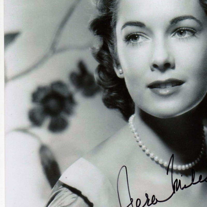 Picture signed by the actress Vera Miles