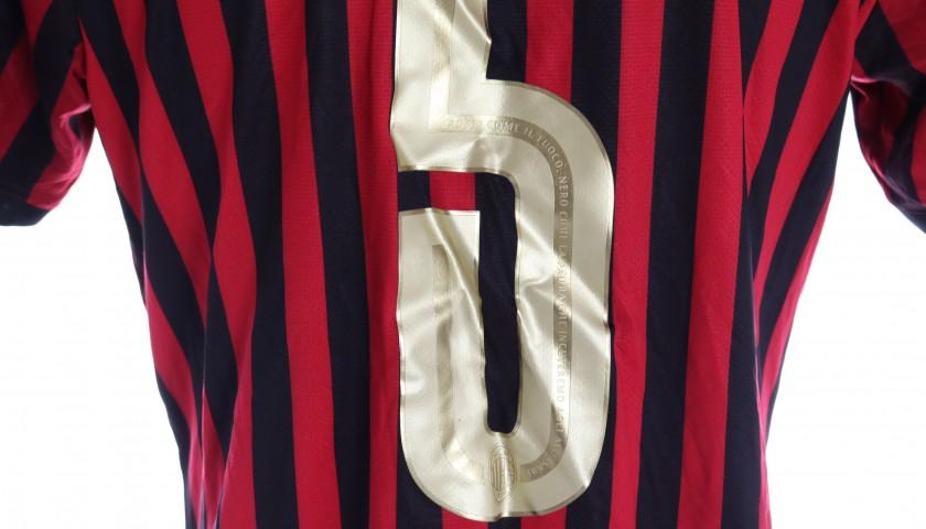 Bonaventura's Worn Shirt, Milan-Sassuolo, 120th Anniversary