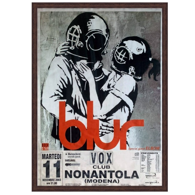 Banksy - Original Poster from 2003 Blur Concert