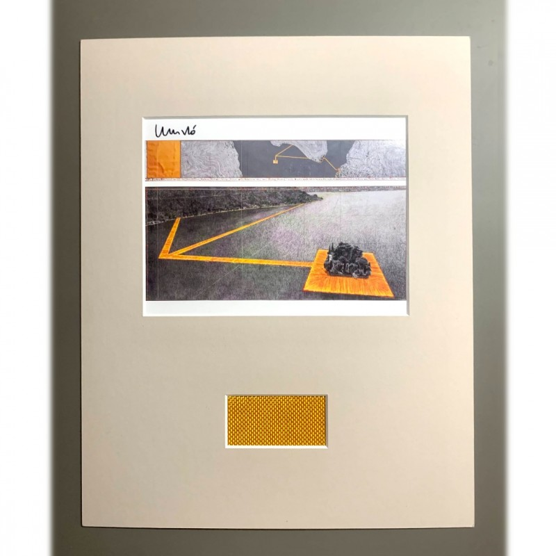 """Christo's """"The Floating Piers"""" - Fragment of the Artwork + Artist's Signature"""