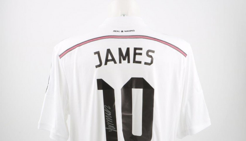 size 40 4ed53 48f34 Real Madrid James Rodriguez signed shirt, Liga 14/15 - CharityStars