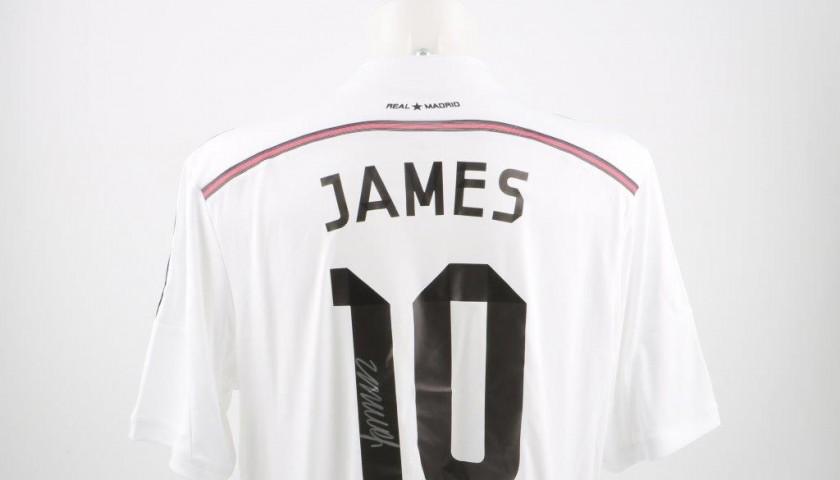 size 40 bfcbb dffe4 Real Madrid James Rodriguez signed shirt, Liga 14/15 - CharityStars