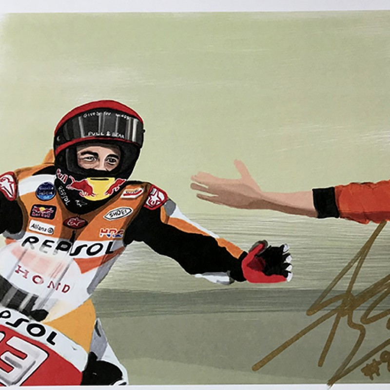 """Marc Marquez: Race 8, Sachsenring"" by Tammy Gorali"