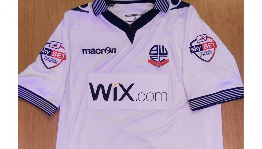 Feeney's Bolton match worn shirt, FA Cup 2014-15