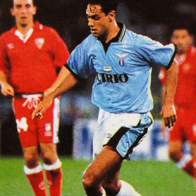 Nesta's Official Lazio Signed Shirt, 1996/97