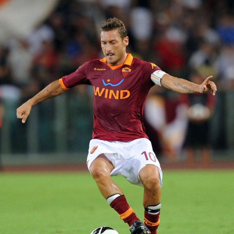 Totti's Official Roma Signed Shorts, 2012/13