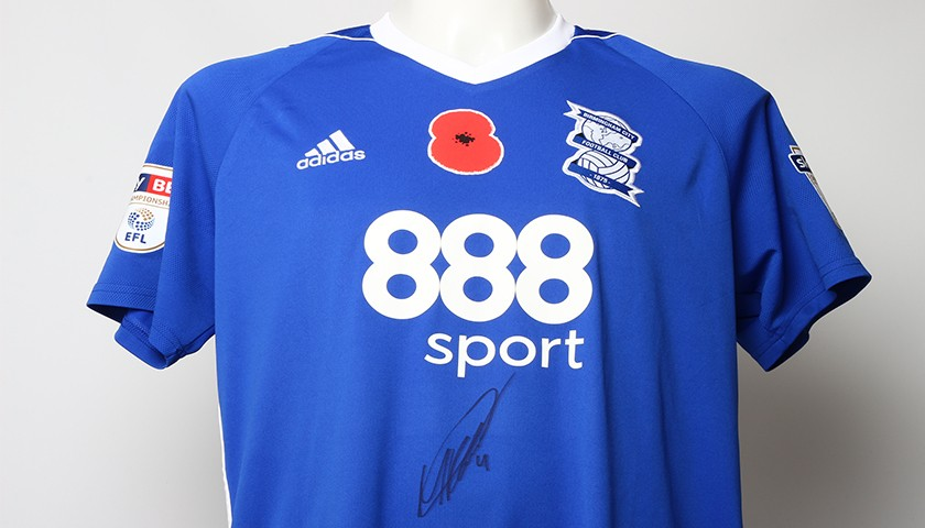 Poppy Shirt Signed by Birmingham City FC's Marc Roberts