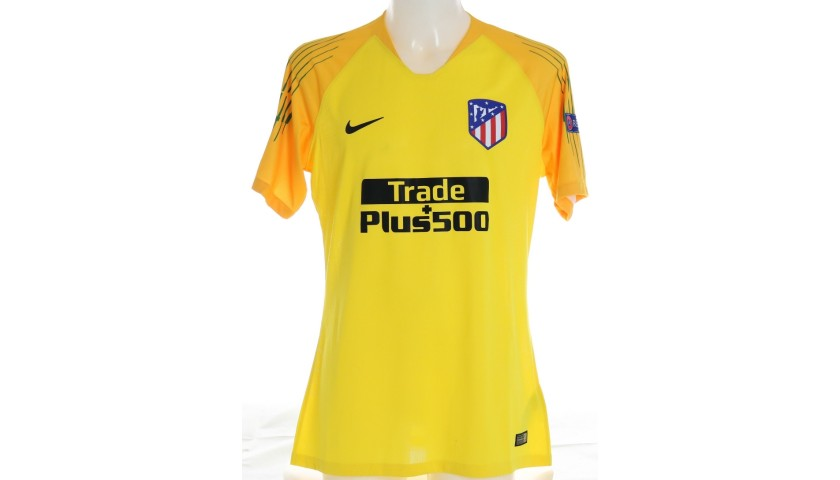 Oblak's Atletico Madrid Match-Issued Shirt, UCL 2018/19