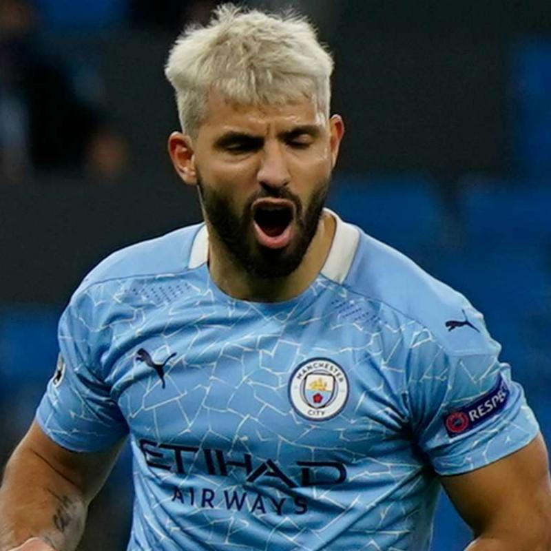 Aguero's Official Manchester City Shirt, 2020/21 - Signed