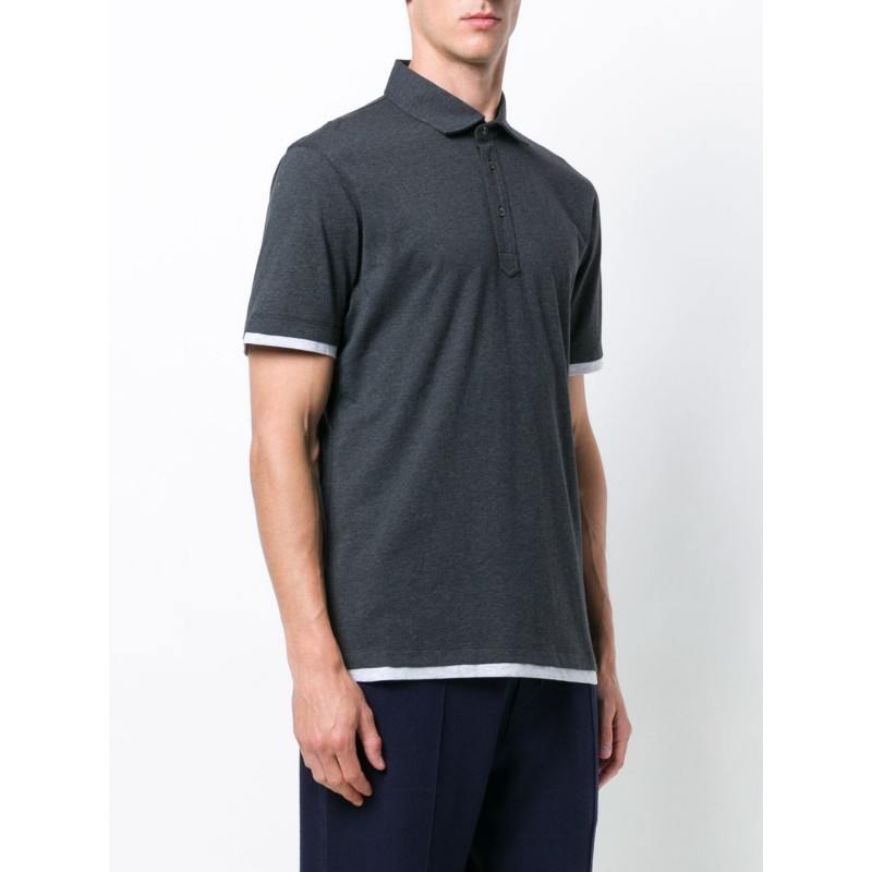 Piqué Cotton Slim Fit Polo Shirt by Brunello Cucinelli
