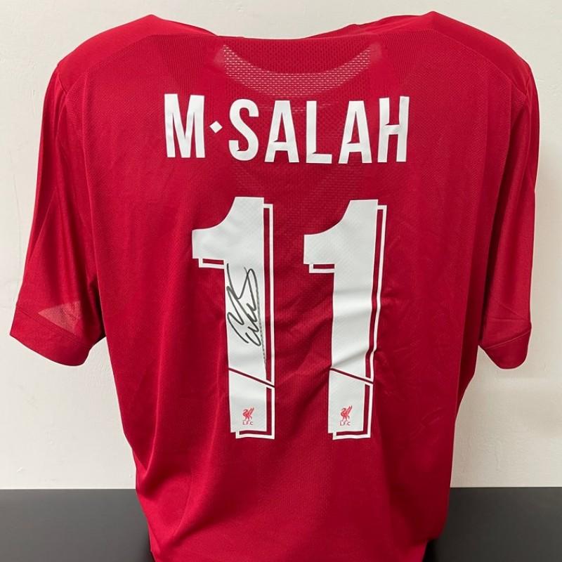 Salah's Official Liverpool Signed Shirt, UEFA Super Cup 2019