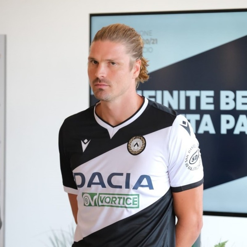 Prodl Udinese-Crotone 2020 Match Issued Shirt
