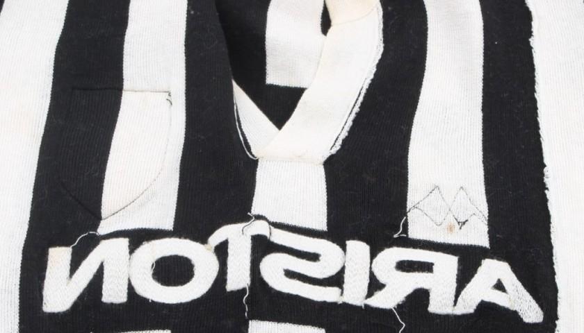Match worn Platini Juventus shirt, worn in the 1984/1985 season