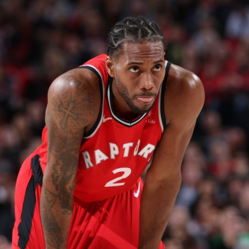Official Toronto Raptors NBA Shirt Signed by Kawhi Leonard